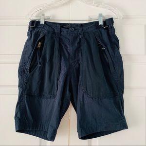 Navy Blue Cargo Shorts Abercrombie & Fitch Sz 28